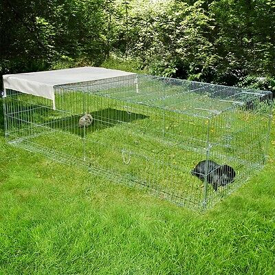 Outdoor Large Metal Small Animal Pet 4 Sided Run Escape Barrier 200cmx100cmx60cm