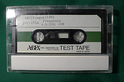 ABEX Alignment Test Tape TCC-171A (azimuth & 2 point frequency response check)