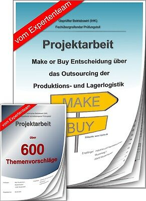 Betriebswirt BW Projektarbeit & Präsentation IHK Make or Buy Outsourcing +