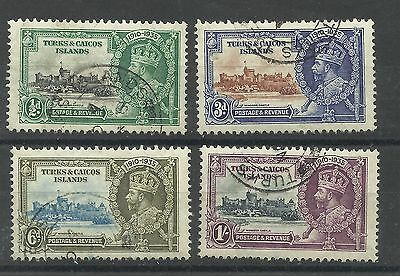 Turks & Caicos, 1935 Set of Silver Jubilee Issues, Fine used [239]
