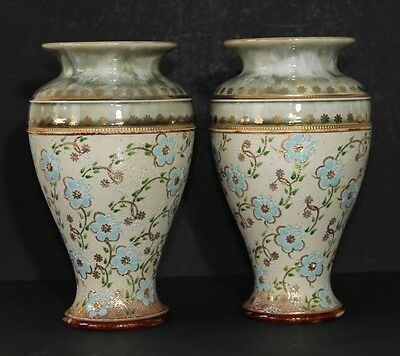 PAIR of ROYAL DOULTON Slaters Patent vases        8.7 inches    7585
