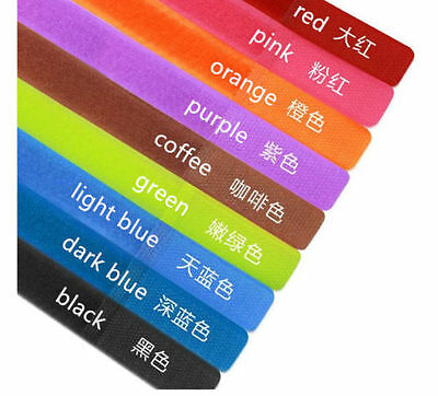 7-70pcs Straps Wrap Wire Organizer Cable Tie Rope Holder 7 color shipping