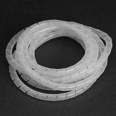 """Vaisis Spiral Harness Wrap 0.244"""" 6.2mm Outside Diameter, Translucent, 33 ft."""