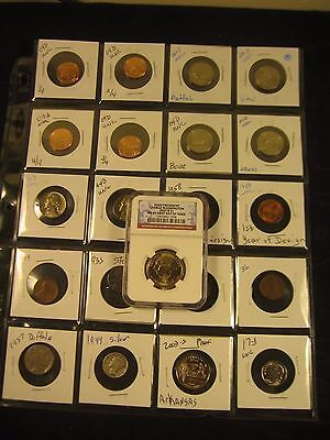 20~Mixed Coins With 1944 Silver And Ngc George Washington Dollar