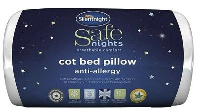 Silent night Breathable Anti-Allergy Toddler Cot Bed Pillow 12Months+ New uk