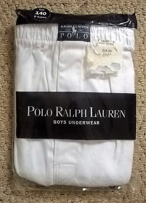 Boy's Polo Ralph Lauren White Oxford Woven Boxer Shorts Age 8-9  - New In Pack