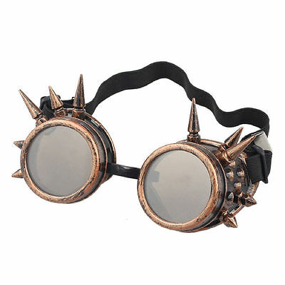 Bronze Brown Lenses Steampunk Spike style cosplay adults fashion goggle glasses