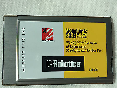 PC Card Modem For Phone Connection for different devices ,Robotic Megahertz 33.6