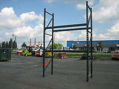 "10 Sections Ridgurak Pallet Rack 80' L X 10't X 44"" Deep , Clean Racking , Hd"