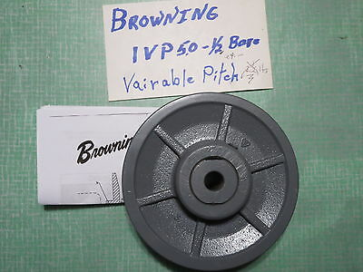 """NOS Browning 1VP50 variable pitch 5"""" 1/2' bore sheave pulley"""