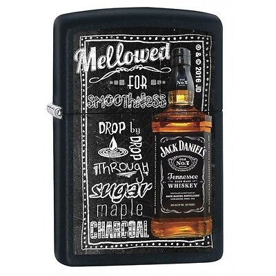 Zippo 2698, Jack Daniels Tennessee Whiskey Old No. 7, Black Matte Finish Lighter