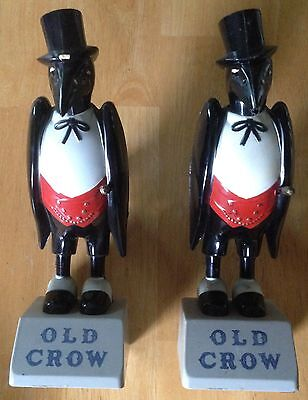 "2 Original Vintage Old Crow 9"" Figures From Kentucky Whiskies"