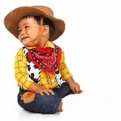 NWT Disney Store Baby Toy Story Woody Cowboy Costume Size 3-6 6-12 12-18 months