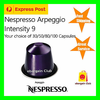 30 50 80 100 Capsules Nespresso Coffee Arpeggio Pods Most Popular Flavour eBClub