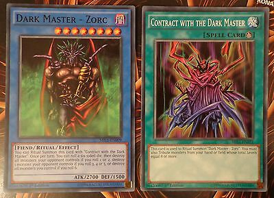 3x Yugioh MIL1-EN021 Contract with the Dark Master Common 1st Edition Card