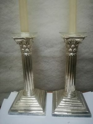 Sterling silver candlesticks, James Dixon 1894 Sheffield candelabri argento 925