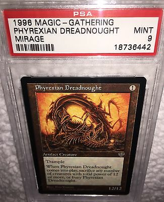 PSA MINT 9 PHYREXIAN DREADNOUGHT Card Mirage 1996 MTG Magic the Gathering