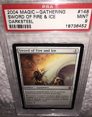PSA 9 SWORD OF FIRE AND ICE Card #148 Darksteel 2004 MTG Magic the Gathering