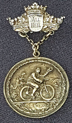 1890's - All Heil - I.preis - Bicycle - Cycling - Medal - Original