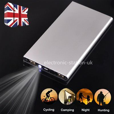 UK 50000mAh Power Bank Pack Portable Dual USB Battery Charger For Mobile Phones