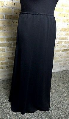 Dress Barn Collection 20W Formal / Evening Wear Black Chiffon Long Skirt Lined