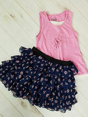 Girl's floral skirt and tank top outfit ~ Size 7-8