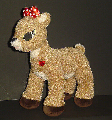 "Build a Bear Workshop CLARICE Talking Plush Stuffed Light Up 15"" LE BABW Rudolph"