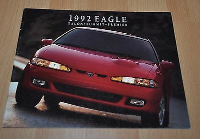 1992 Eagle Model Range Brochure Prospekt Talon Summit Premier