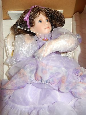 "Lavender Dreams Porcelain Doll ""Victorian Fantasies Collection"" By  Linda Mason"