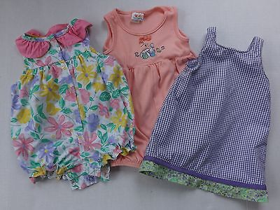 Lot of 3 Baby Toddler Girls Spring One Piece Outfits Size 18 Months