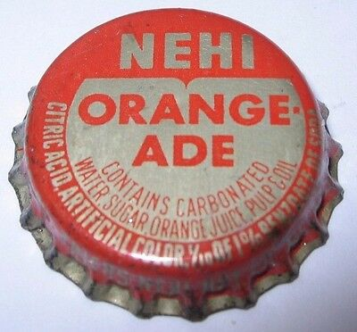 Nehi Orangeade Soda Pop Bottle Cap; Melrose, Mn; Used Cork