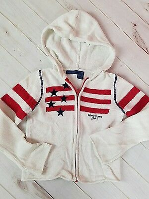 American Girl zip front hooded sweater ~ EUC ~ Size M