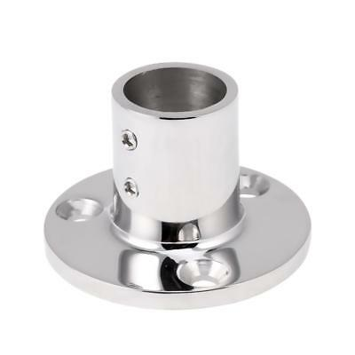 Marine Boat Hand Rail Fitting Stanchion Round Base for 25mm Tube 90 Degree