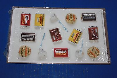 Vintage Hershey's Chocolate Candy Sticker Sheets NIP