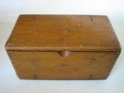 Antique 1889 Singer Sewing Machine Parts Wood Sewing Puzzle Box With Attachments