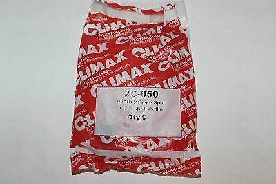 "Bag Of 5 Climax 2C-050 New 1/2"" Id 2 Piece Split Steel Shaft Collars"