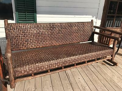 Awesome Adirondack Antique Old Hickory Indiana Large Supreme Deluxe Porch Glider