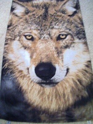"""Lone Wolf Large Terry Beach Pool Towel 64"""" x 37 1/2"""" 100% Cotton"""