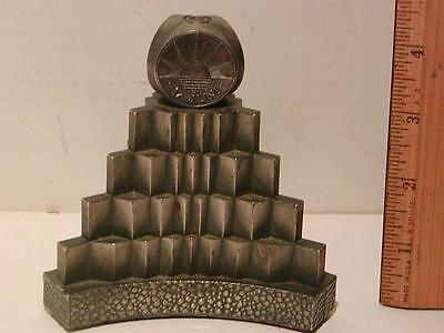 Antique ART DECO STEEL PAPERWEIGHT Dated 17th of June, 1944. Commemorative