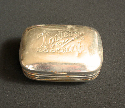 Antique Vintage Toilet Soap Metal / Tin Steel Container dish box Victorian