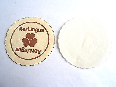 Cool Vintage Aer Lingus Irish Ireland Airlines Advertising Paper Drink Coaster