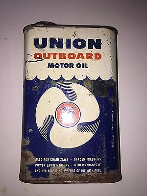 UNION 76 OUTBOARD MOTOR OIL Vintage Antique Oil Grease Marine Can CALIFORNIA