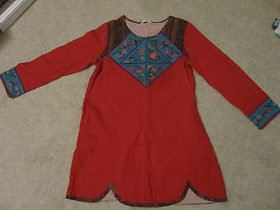 Chinese Ethnic Nashi Dress (traditional embroidered) from Lijiang - S/M size