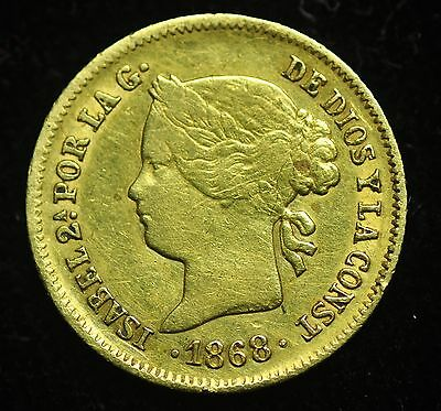 1868 Peso Spain-Philippines Gold Coin - lot#5