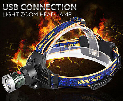 10000LM 18650 Troch XM-L T6 LED Headlamp Headlight Flashlight Head Light Lamp