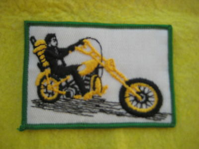 "Vintage Chopper Motorcycle Patch 3 5/8"" X 2  1/2"""