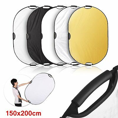 Selens 200x150cm 5in1 Light Mulit Collapsible Handheld Oval Reflector Disc Board