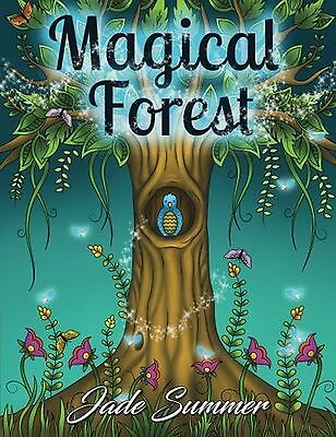 Magical Forest: An Adult Coloring Book with Enchanted Forest Animals Fantasy ...