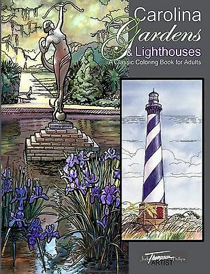 Carolina Gardens & Lighthouses: A Classic Coloring Book for Adults