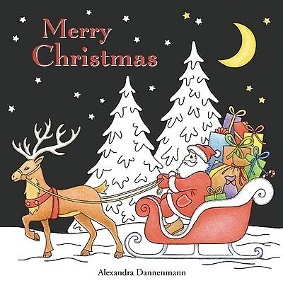 Merry Christmas: a beautiful colouring book with Christmas designs on a black...